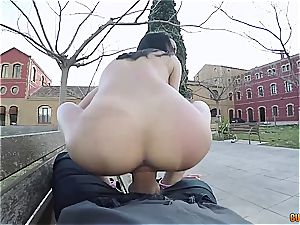 jiggly Latina assfuck boinked in public
