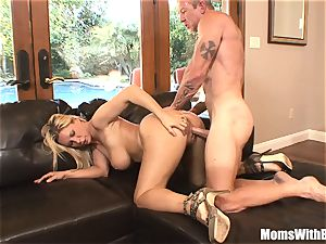 big-boobed light-haired Housewife Devon Lee Pierced labia ravaged