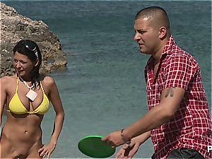 insane gang sex tournament on the beach part 1