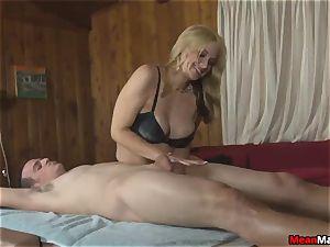 client Shocks To observe The super-sexy blondie masseur