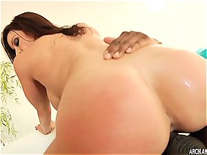 sexy Kendra lust prepped for her first dark-hued sausage