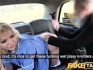 fake taxi huge-boobed wild nurse pees and raunchy drilling