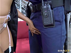 Romi Rain strange wish getting pounded by the policeman