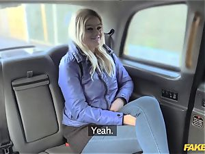 faux taxi blonde gets backseat discount