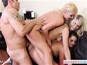 stunning Aaliyah love poking in foursome