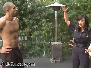 buxomy cop Lisa Ann gives out her fuck-stick punishment
