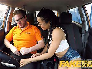faux Driving college black yankee minx Kira Noir