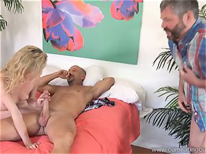 Angel Smalls Has Her spouse eat spunk Off Her