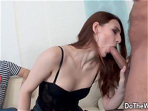 highly fantastic wife takes humungous penis plus facial
