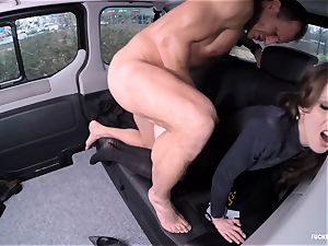nailed IN TRAFFIC - handsome Czech babe pummels in the car