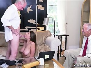 Latino daddy and ambisexual cuckold fellow first time Ivy amazes with her enormous bosoms and rump