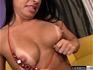 Monica Santhiago gets a ample fountain in her anxious fuckbox