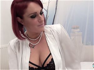 La Cochonne - unexperienced French red-haired in messy ass-fuck pummel