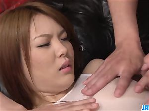 Subtitles - japanese bombshell Rei gets pink cigar in her uber-cute