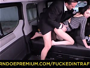 humped IN TRAFFIC - sexy small stunner ravaged by driver