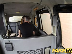fake taxi tossing salad tanned stunner with tiny pinkish snatch