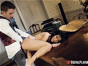 Rina Ellis takes on that thick monster dick