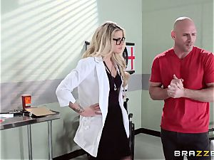 hot doctor Jessa Rhodes checks out this massive knob
