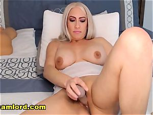curvy ash-blonde mommy goes ultra-kinky On web cam