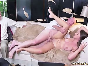 father and mummy older stud hard-core Ivy impresses with her immense funbags and caboose