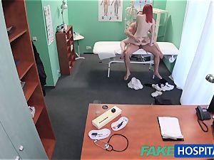 FakeHospital ultra-cute redhead rails physician for cash
