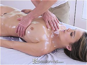 Passion-HD - Dillion Harper humid rubdown with facial cumshot