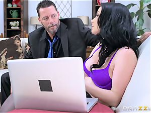 hot rump black-haired Veruca James pounded in her ass-hole