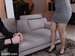 big-titted babe Lena Paul Gets Cummy feet After drill